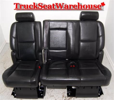 cadillac escalade 2nd row bench seat cadillac escalade esv 2nd row black leather bench seat