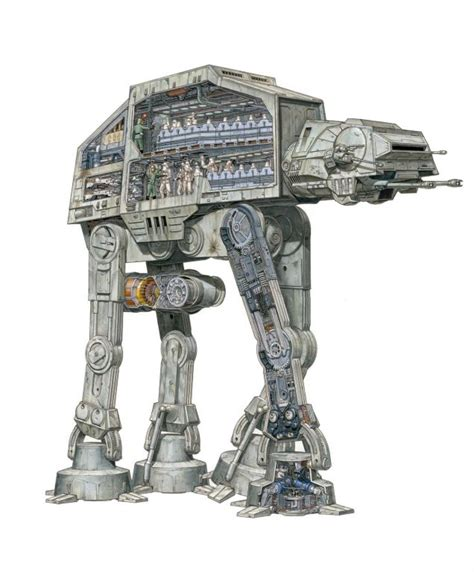 at at cross section the amazing star wars vehicles and location cutaways by