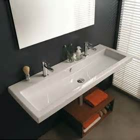 wall mounted trough sinks for bathrooms faucet trough style sink cangas wall hung