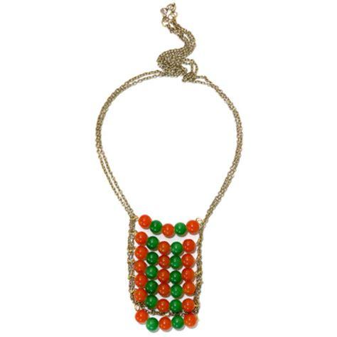 orange beaded necklace buy beaded necklace orange
