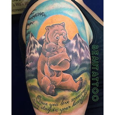 brother bear tattoo done by beau tattoo