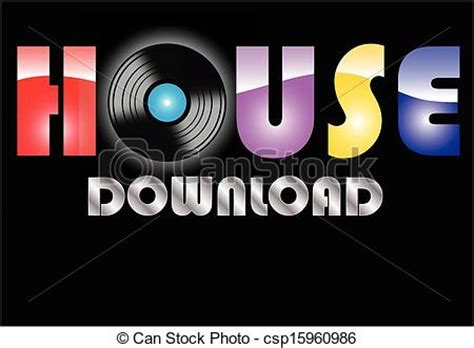 House Music Vector Clip Art Instant Download Csp15960986