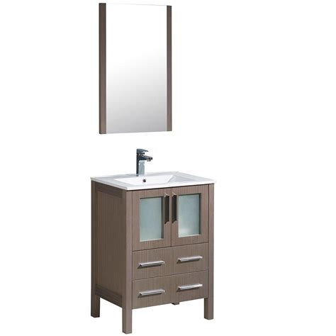 fresca hudson 24 in w traditional bathroom vanity in gray