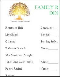 Family Reunion Program Template by Family Reunion Booklet Maker