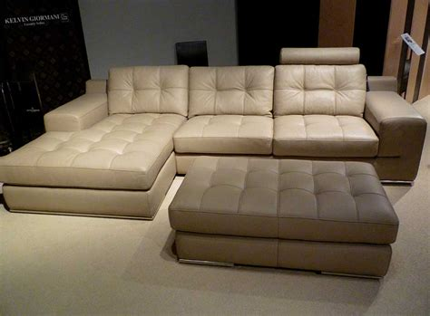 Fiore Sofa Sectional Italian Leather Beige Leather Beige Leather Sectional Sofa