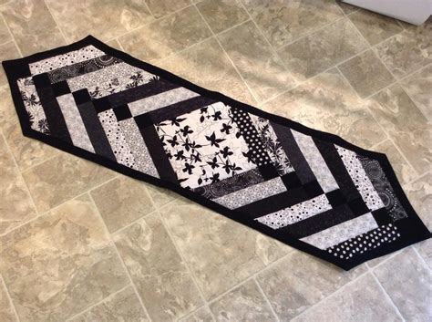 black white table runner black and white table runners quotes