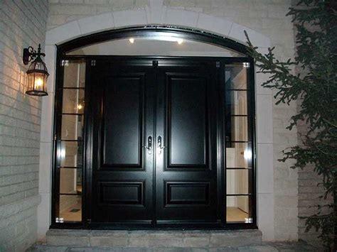 wrought iron and glazed exterior doors studio design