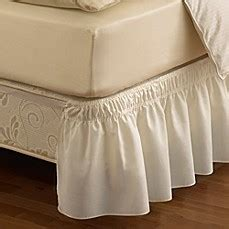 ruffled solid adjustable bed skirt bed bath beyond