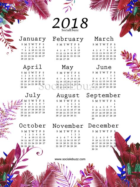 2018 calendar template pdf indian 2018 calendar with holidays free blank calendar 2018