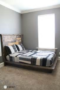 Diy Platform Bed Easy Diy Platform Bed Shanty 2 Chic