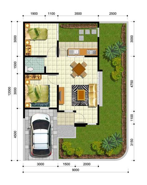 denah rumah tinggal minimalis contoh rumah minimalis