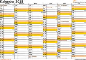 Kalender 2018 Bayern Ohne Schulferien Kalender 2018 Mit Feiertagen