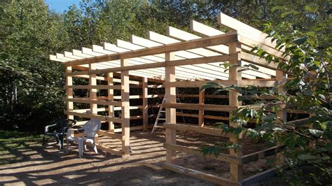 build my home update on my wood shed build from my home made lumber