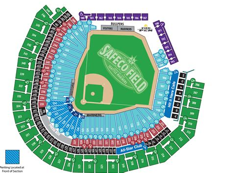 safeco field section map ada information mariners com ballpark information