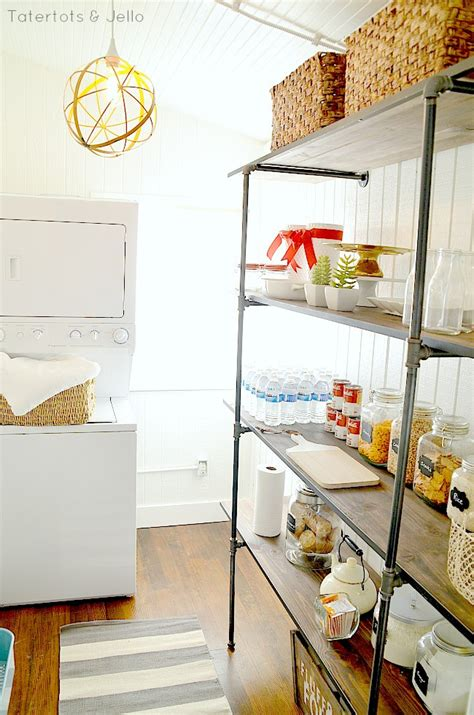 diy show off a do it yourself home improvement and tatertots jello pantry laundry room industrial pipe