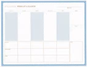 week at a glance template 5 best images of blank month at a glance printable