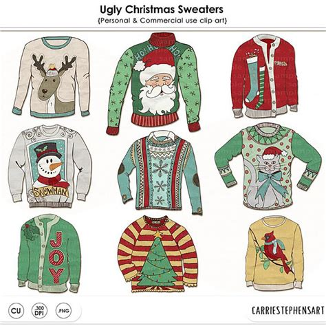 printable ugly christmas sweater ugly sweater clipart christmas clipart funny christmas