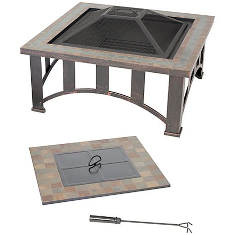 Buy Firepit Buy La Hacienda Edenton Firepit Table Lewis