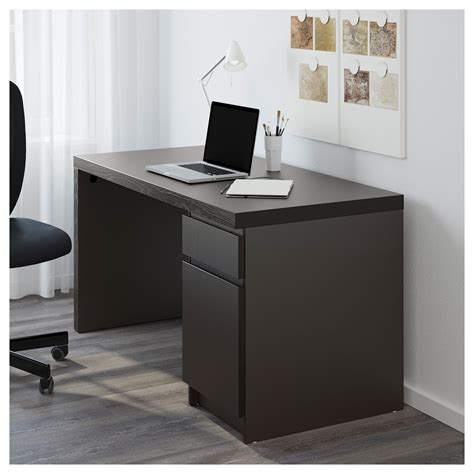 Computer Desk In Ikea Malm Desk Black Brown 140x65 Cm Ikea