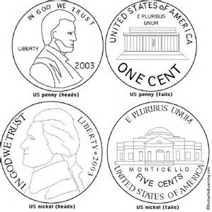 coin coloring pages us and nickel coloring page printout enchanted