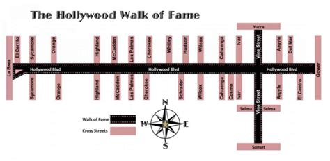 walk of fame map walk of fame map holidaymapq