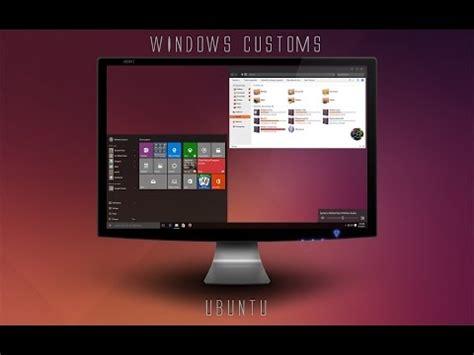 ubuntu dark theme for windows 10 rtm windows 10 theme ubuntu youtube