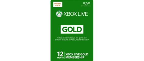 Xbox Live 12 Month Gold Membership Gift Card - xbox live 12 months gold membership krooot store