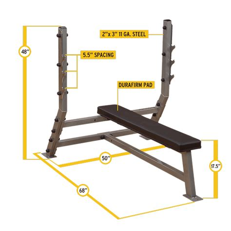 olympic bench press dimensions sfb349g flat olympic bench body solid fitness