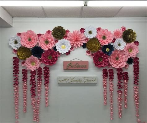 How To Make Paper Wall Flowers - 25 unique large paper flowers ideas on paper
