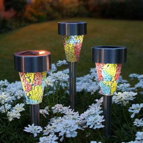Solar Garden Lights Glass Roselawnlutheran Solar Powered Patio Lighting