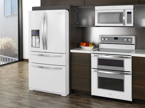 designed kitchen appliances white kitchen cabinets with white appliances tips and