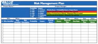 project risk management template generating value by using a risk management plan value