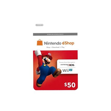 Eshop Gift Card Switch - tarjeta nintendo eshop gift card 50 codigo prepago switch wii u 3ds nany41