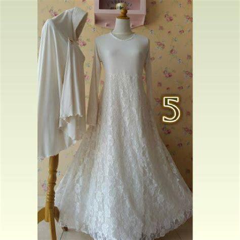 Baju Syar I 100 Buatan Designer gaun akad nikah gaun lamaran muslimah gaun pernikahan