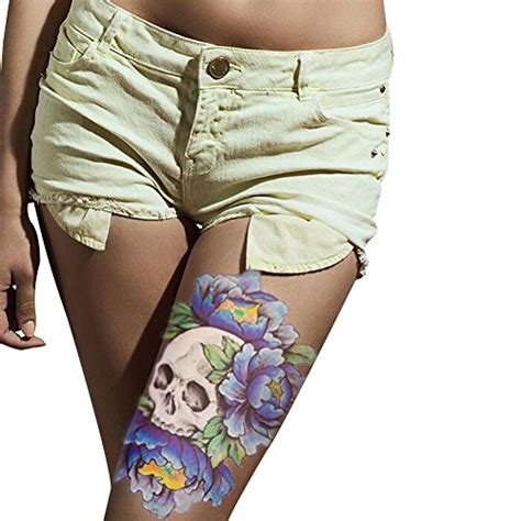 temporary tattoo paper for sale tafly temporary tattoo paper sexy large blue skull flower