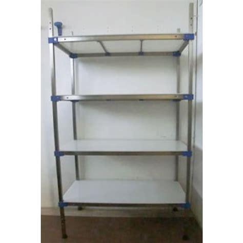scaffali per alimenti scaffalature in acciaio inox con piani in polietilene per