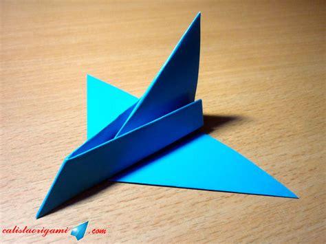 tutorial origami pesawat jet cara membuat pesawat luar angkasa dari kertas origami