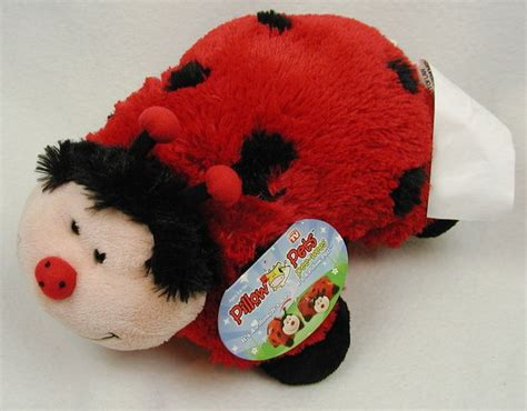 ladybug pillow pets wees small plush wees new