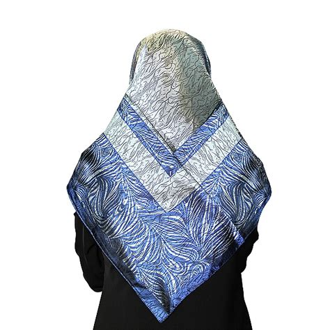 Muslim Scarf Light Blue gray and blue muslims s headscarf with wave