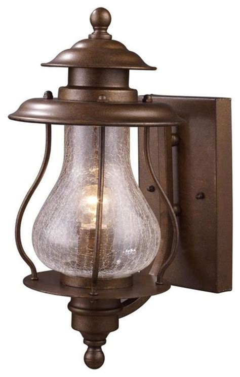 Southwestern Outdoor Lighting Elk Lighting Wikshire 1 Light Outdoor Wall Mount Coffee Bronze Southwestern Outdoor Wall