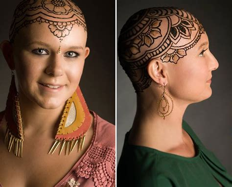 henna head tattoo beautiful henna crowns help cancer patients overcome their
