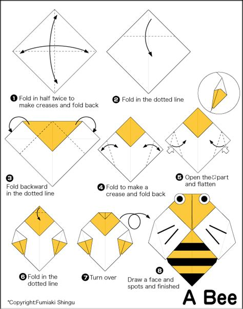 How To Make A Paper Bee - bee easy origami for