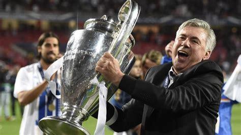 Waterproof Carlo Ancelotti Real Madrid Uefa ancelotti unico allenatore a vincere tre chions la