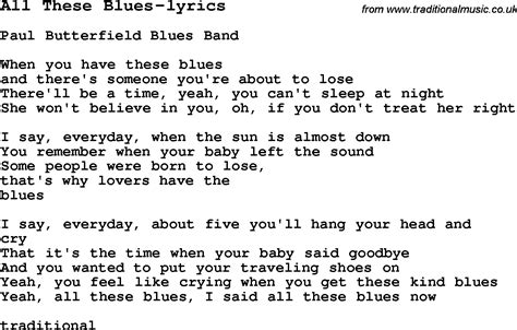 blues lyrics blues guitar lesson for all these blues lyrics with
