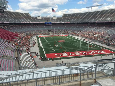 Ohio Stadium Student Section by B Deck Endzone Ohio Stadium Football Seating