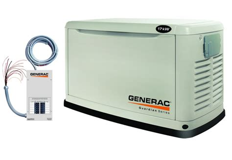 generac guardian 5873 17kw air cooled standby generator at