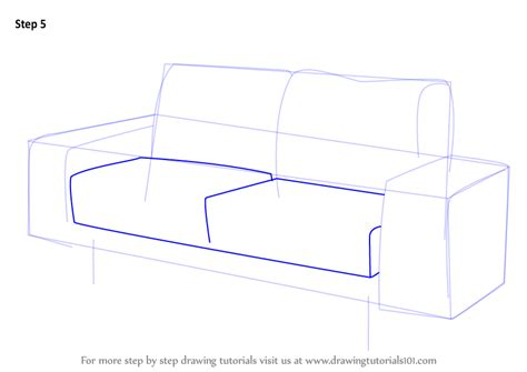 step by step upholstery learn how to draw a couch furniture step by step