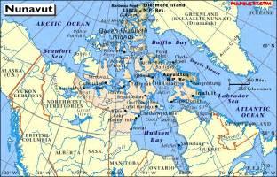 map of nunavut canada map of nunavut canada