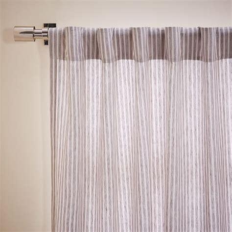 belgian linen curtain striped belgian flax linen curtain west elm
