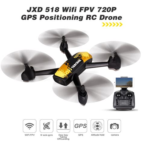 Jxd 507w Wifi Fpv Live Rotating Altitude Hold yellow jxd 518 2 4g 720p wifi fpv gps positioning altitude hold rc quadcopter rcmoment